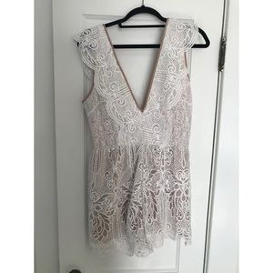 White Laced Jumper